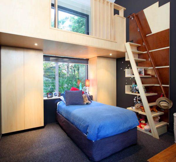 St Lucia Queenslander Renovation Bedroom
